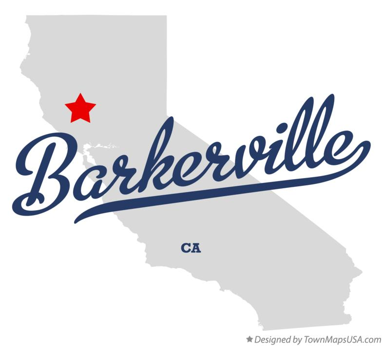 Map of Barkerville California CA