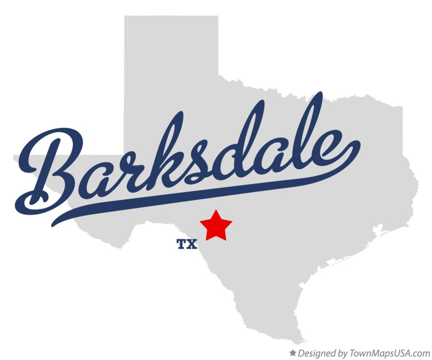 Map of Barksdale Texas TX