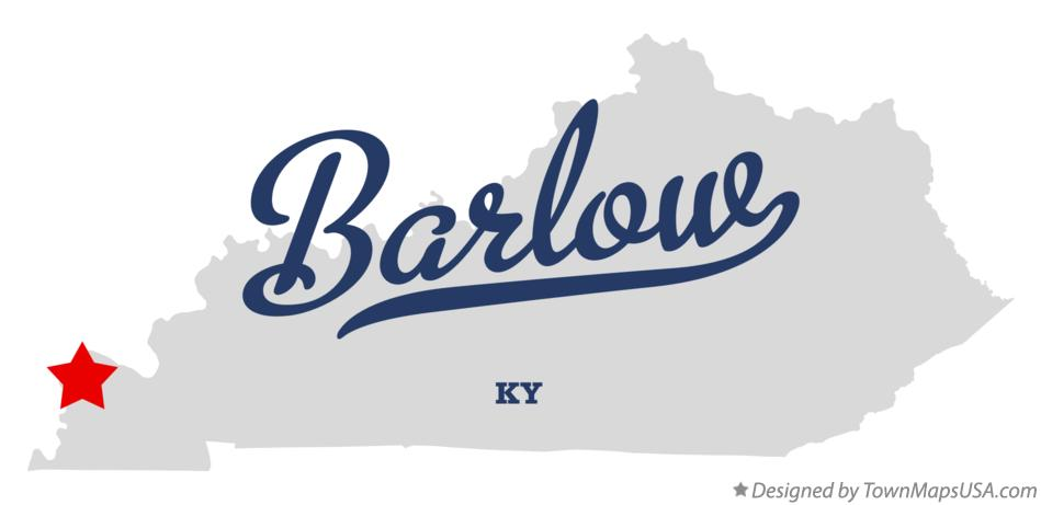 Map of Barlow Kentucky KY