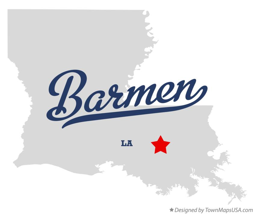 Map of Barmen Louisiana LA