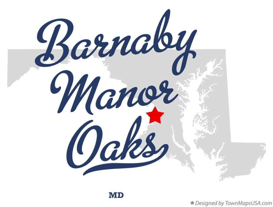 Map of Barnaby Manor Oaks Maryland MD