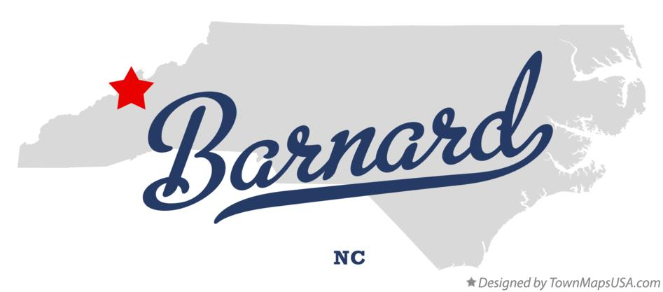 Map of Barnard North Carolina NC
