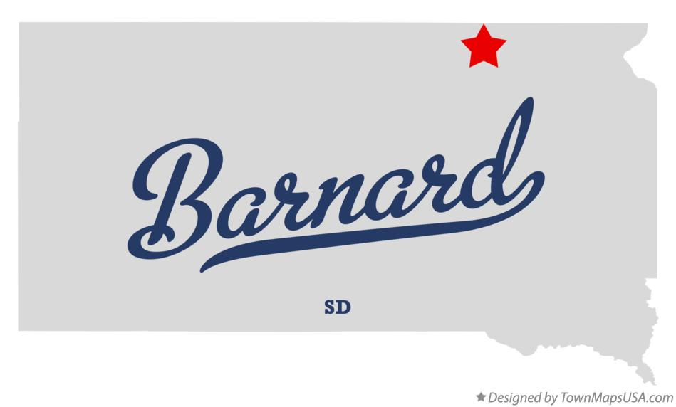 Map of Barnard South Dakota SD