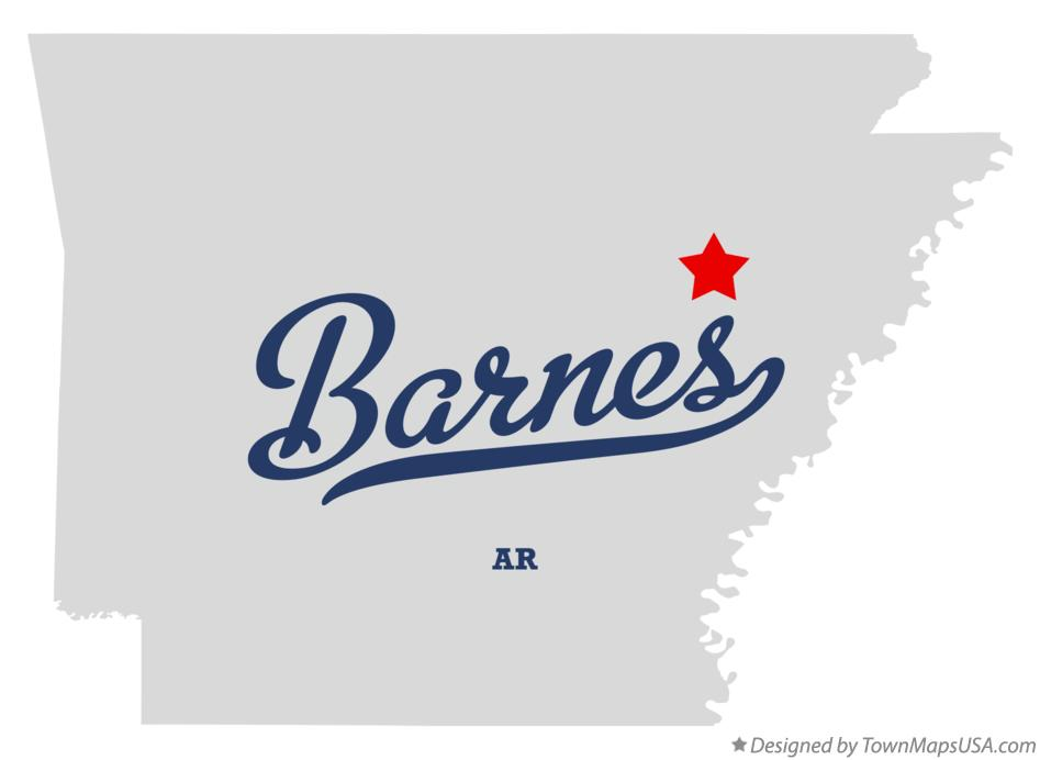 Map of Barnes Arkansas AR