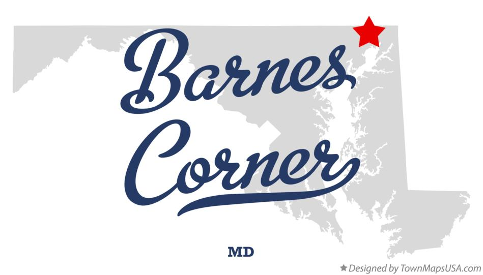 Map of Barnes Corner Maryland MD