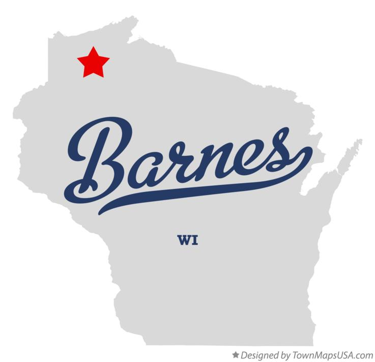 Map of Barnes Wisconsin WI