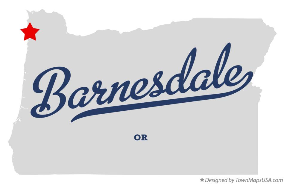 Map of Barnesdale Oregon OR