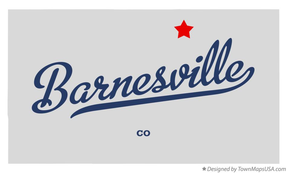 Map of Barnesville Colorado CO