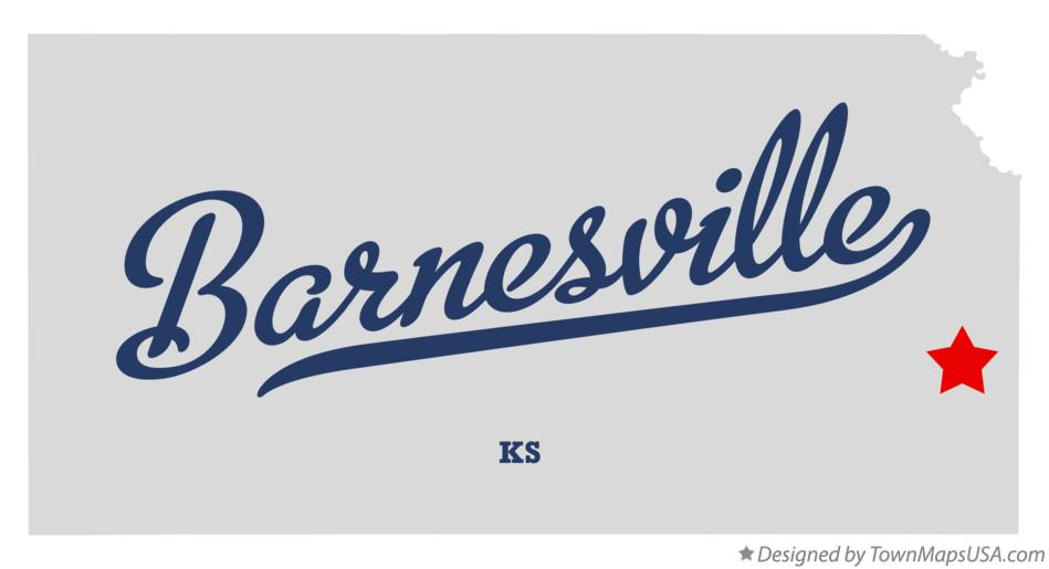 Map of Barnesville Kansas KS