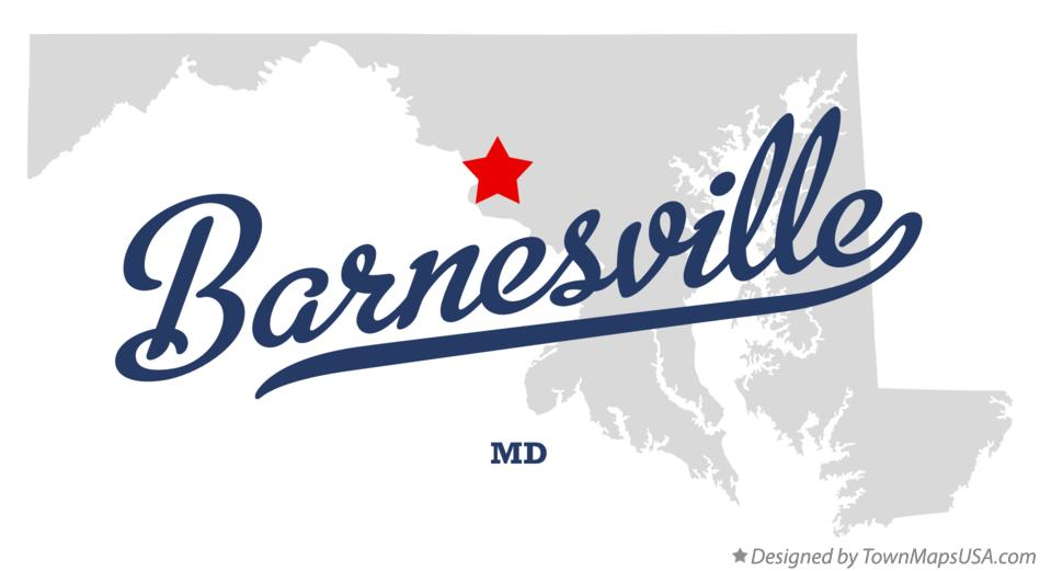 Map of Barnesville Maryland MD