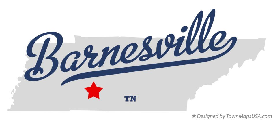 Map of Barnesville Tennessee TN