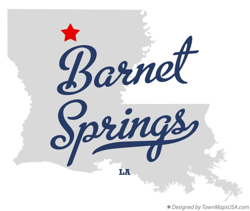Map of Barnet Springs Louisiana LA