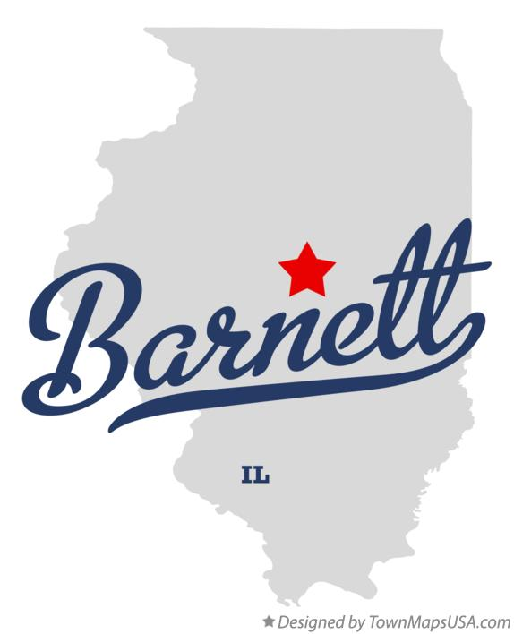 Map of Barnett Illinois IL