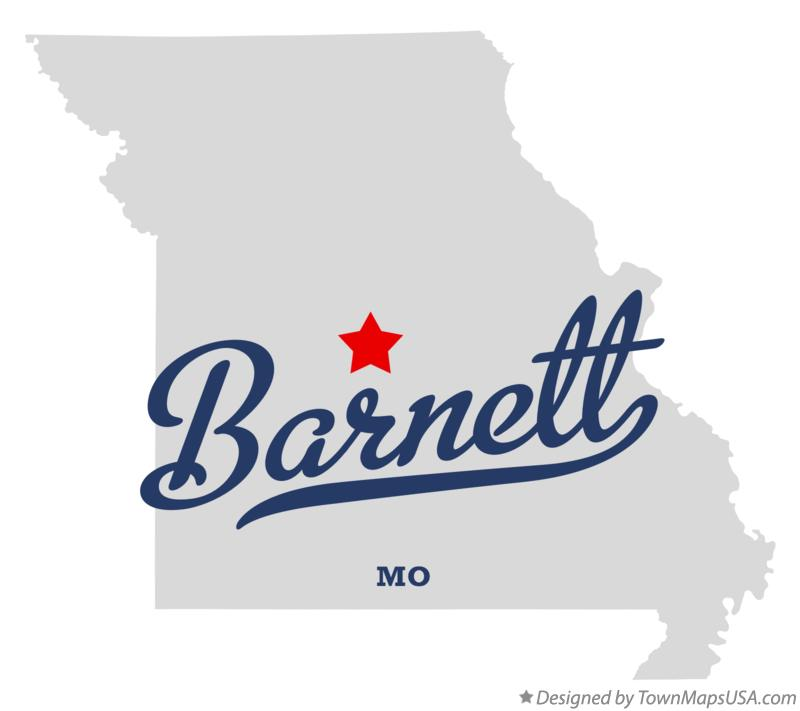 Map of Barnett Missouri MO