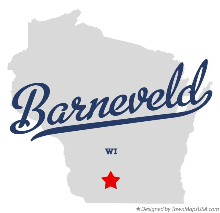 Map of Barneveld Wisconsin WI