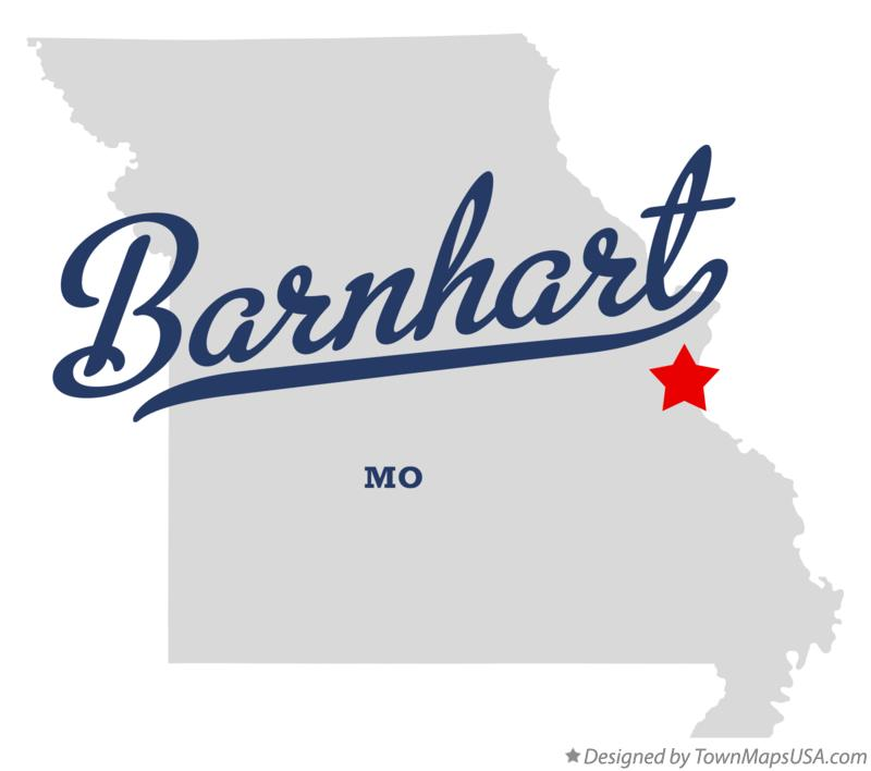 Map of Barnhart Missouri MO