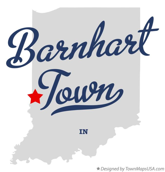 Map of Barnhart Town Indiana IN