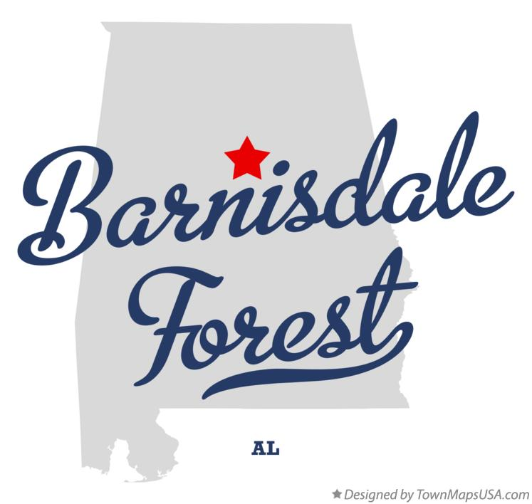 Map of Barnisdale Forest Alabama AL