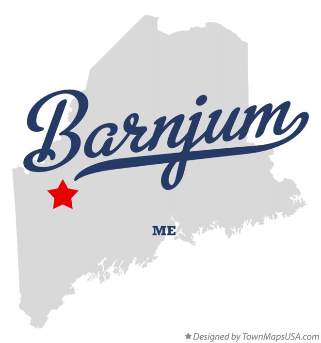 Map of Barnjum Maine ME