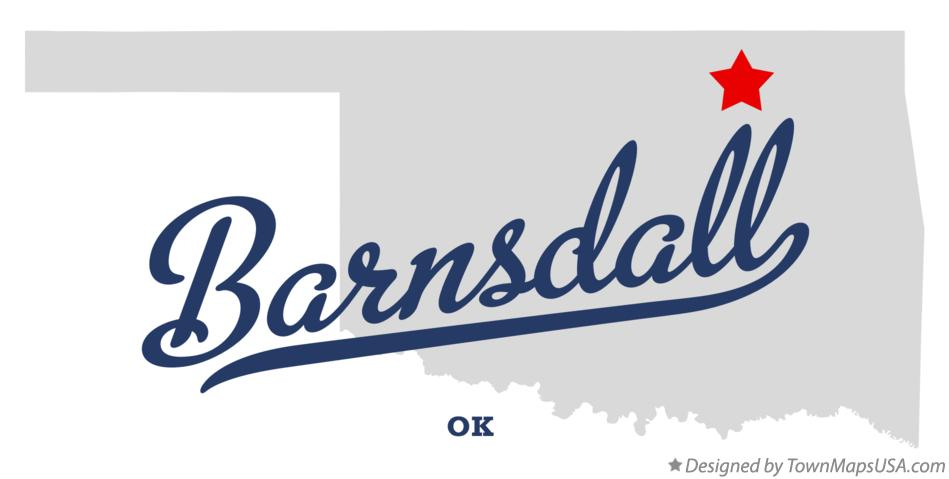 Map of Barnsdall Oklahoma OK