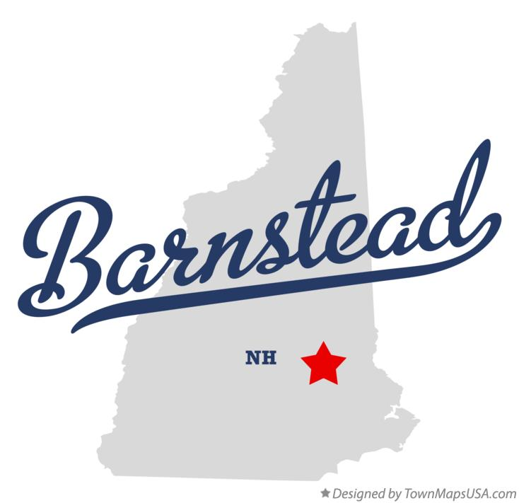 Map of Barnstead New Hampshire NH