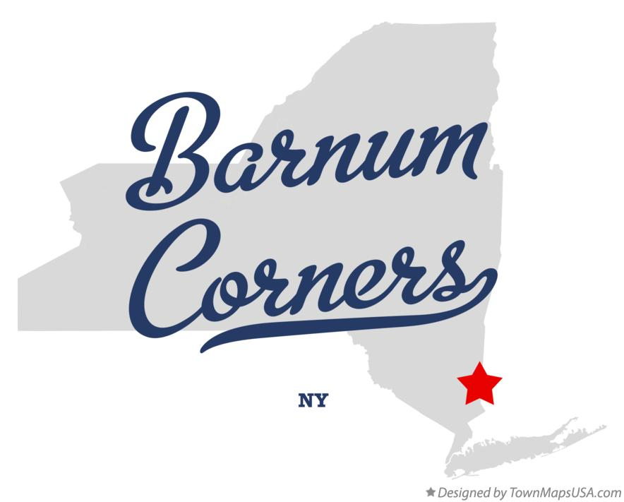 Map of Barnum Corners New York NY