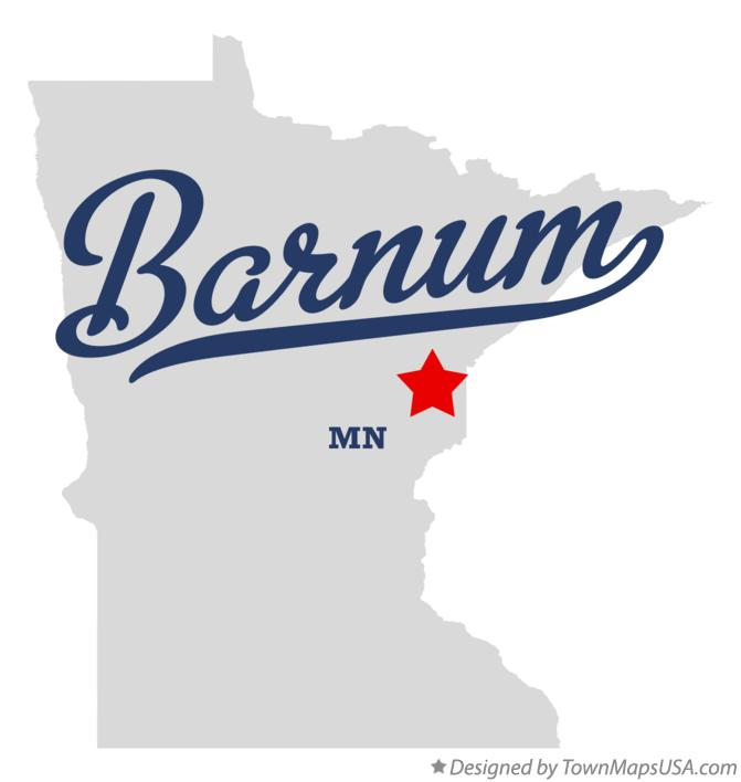 Map of Barnum Minnesota MN