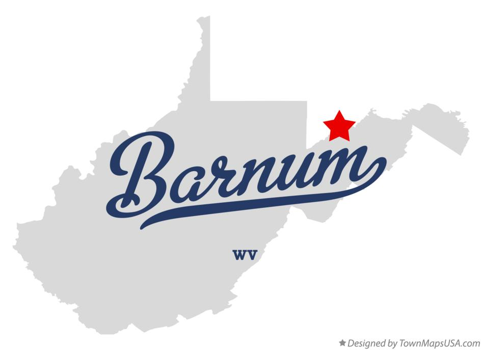 Map of Barnum West Virginia WV
