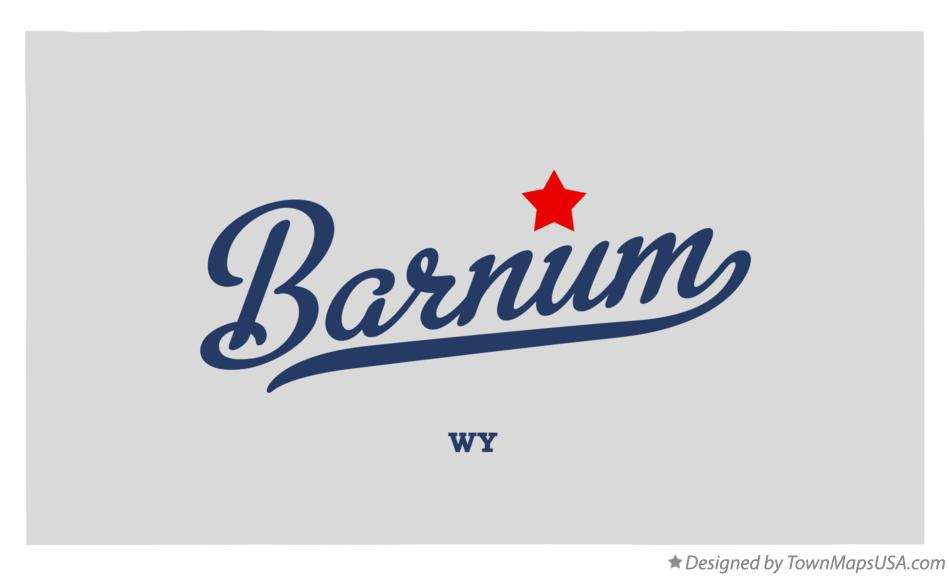 Map of Barnum Wyoming WY