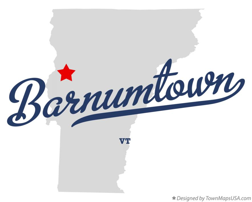 Map of Barnumtown Vermont VT