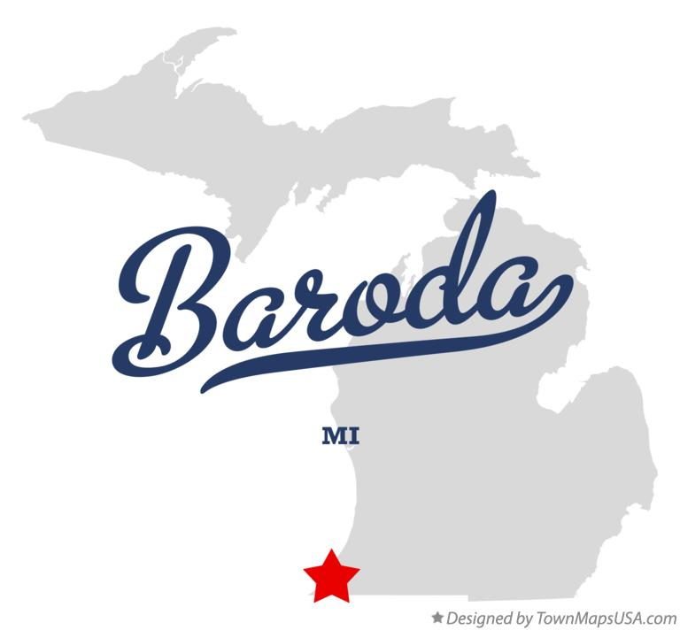 Map of Baroda MI Michigan