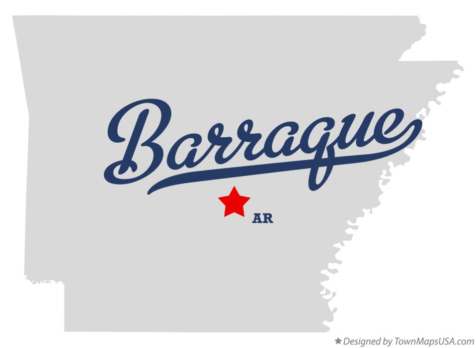 Map of Barraque Arkansas AR