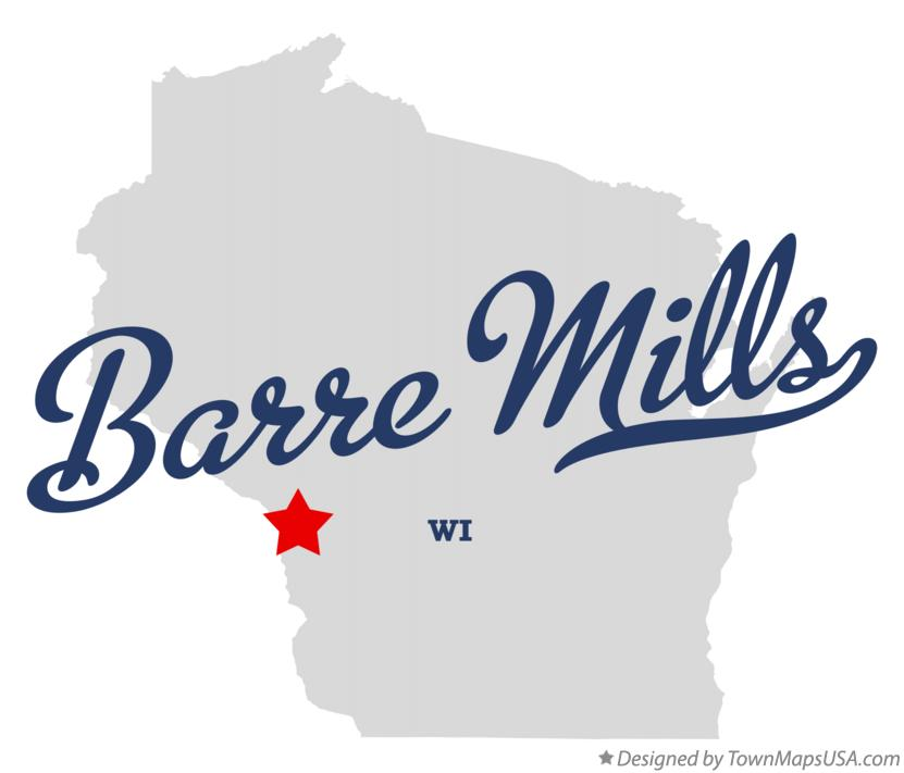 Map of Barre Mills Wisconsin WI