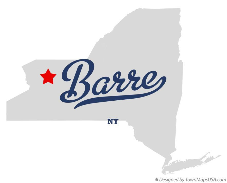 Map of Barre New York NY