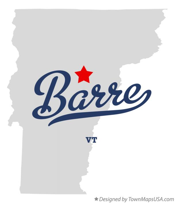 Map of Barre Vermont VT