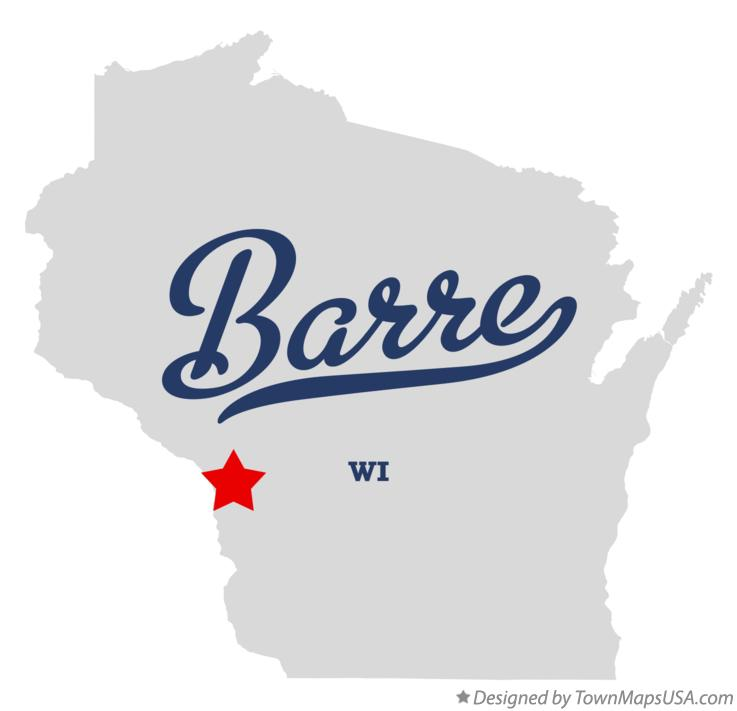 Map of Barre Wisconsin WI
