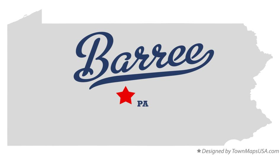 Map of Barree Pennsylvania PA