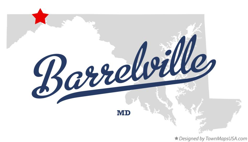 Map of Barrelville Maryland MD