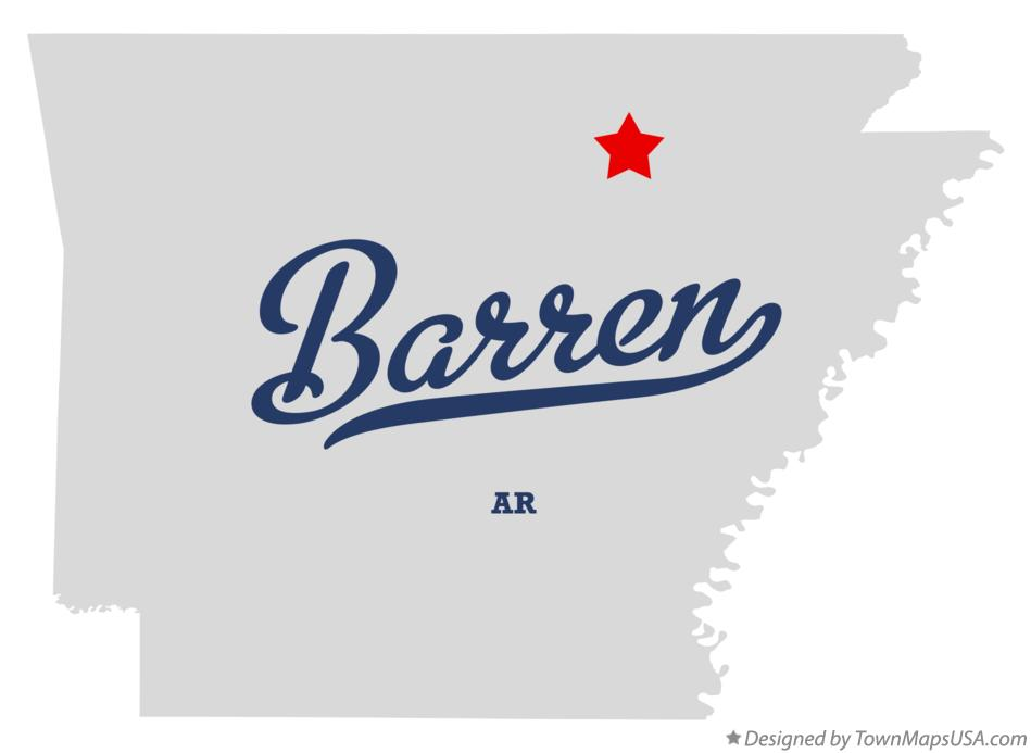 Map of Barren Arkansas AR