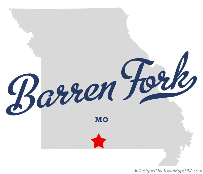 Map of Barren Fork Missouri MO