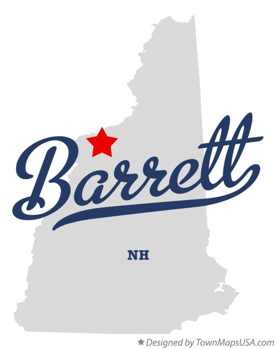 Map of Barrett New Hampshire NH