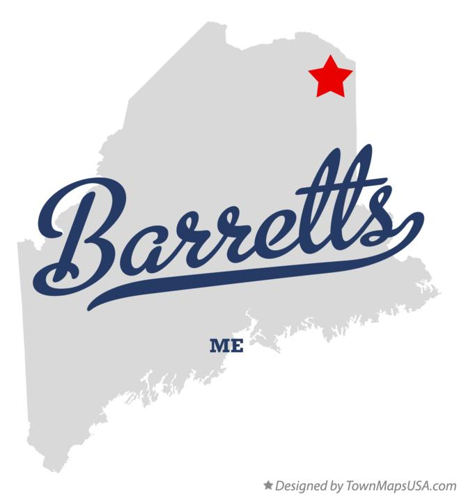 Map of Barretts Maine ME