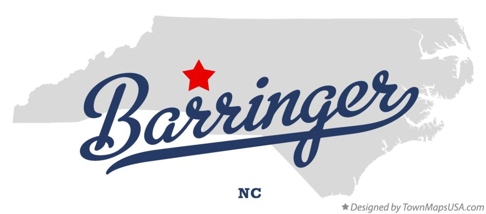 Map of Barringer North Carolina NC