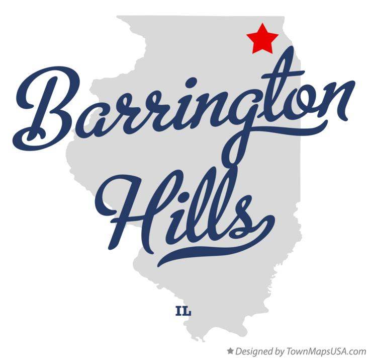 Map of Barrington Hills Illinois IL