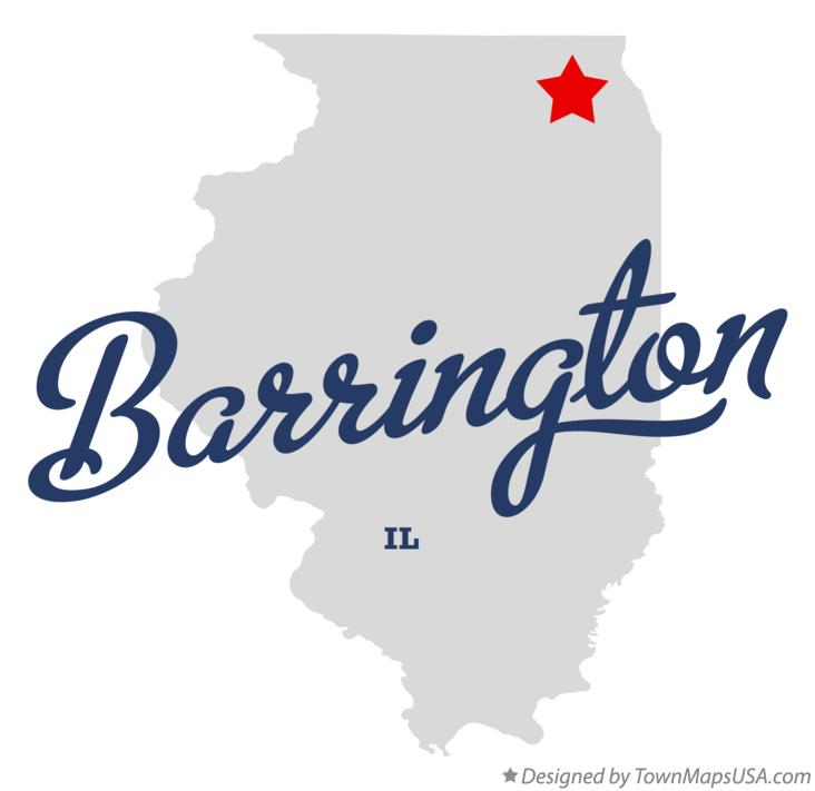 Map of Barrington Illinois IL