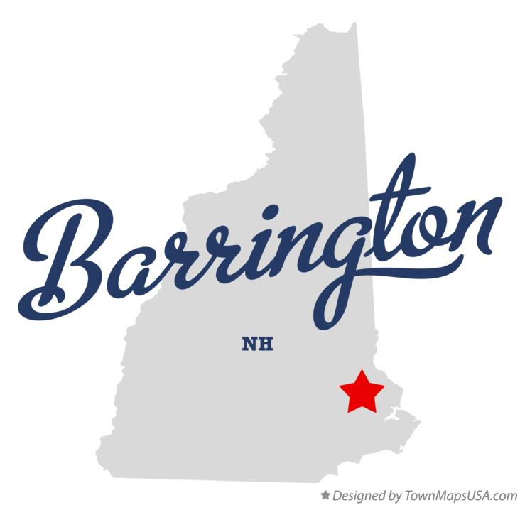 Map of Barrington New Hampshire NH