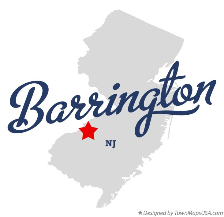 Map of Barrington New Jersey NJ