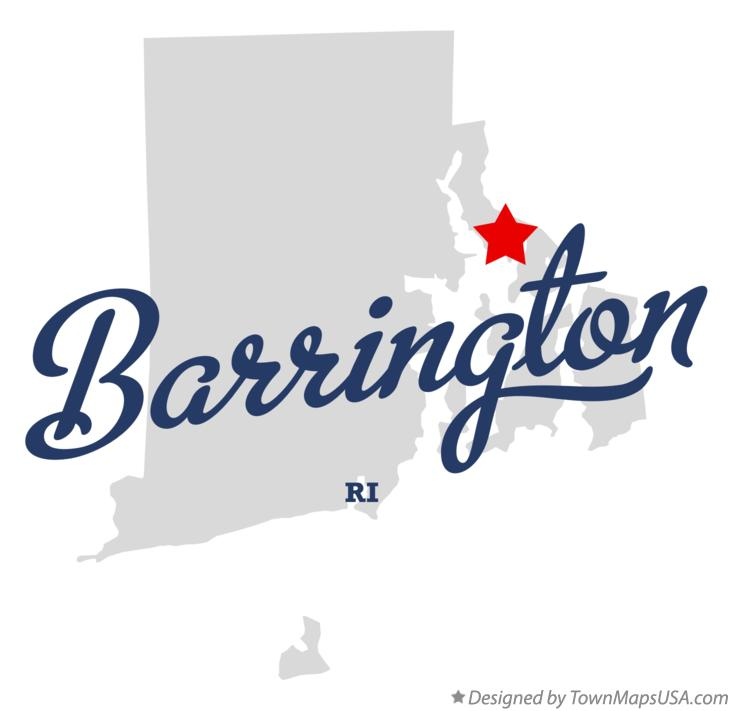 Map of Barrington Rhode Island RI