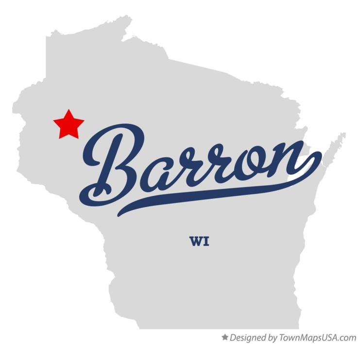 Map of Barron Wisconsin WI