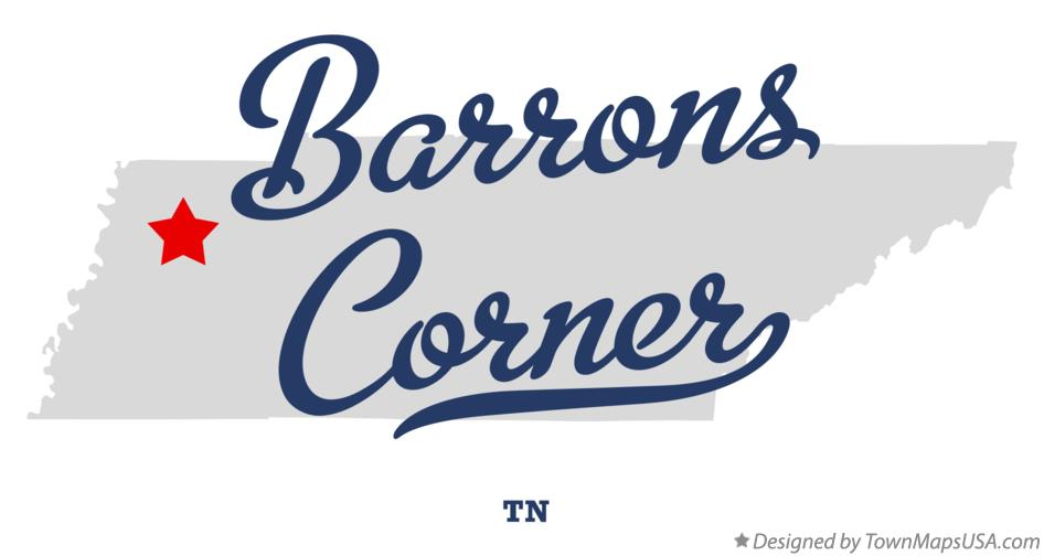 Map of Barrons Corner Tennessee TN